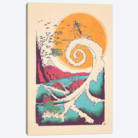 Surf Before Christmas Canvas Print #VIC21} by Victor Vercesi Canvas Artwork