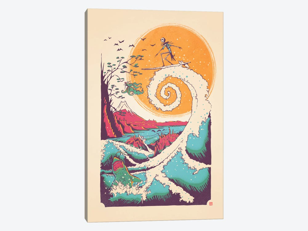 Surf Before Christmas by Victor Vercesi 1-piece Canvas Art Print