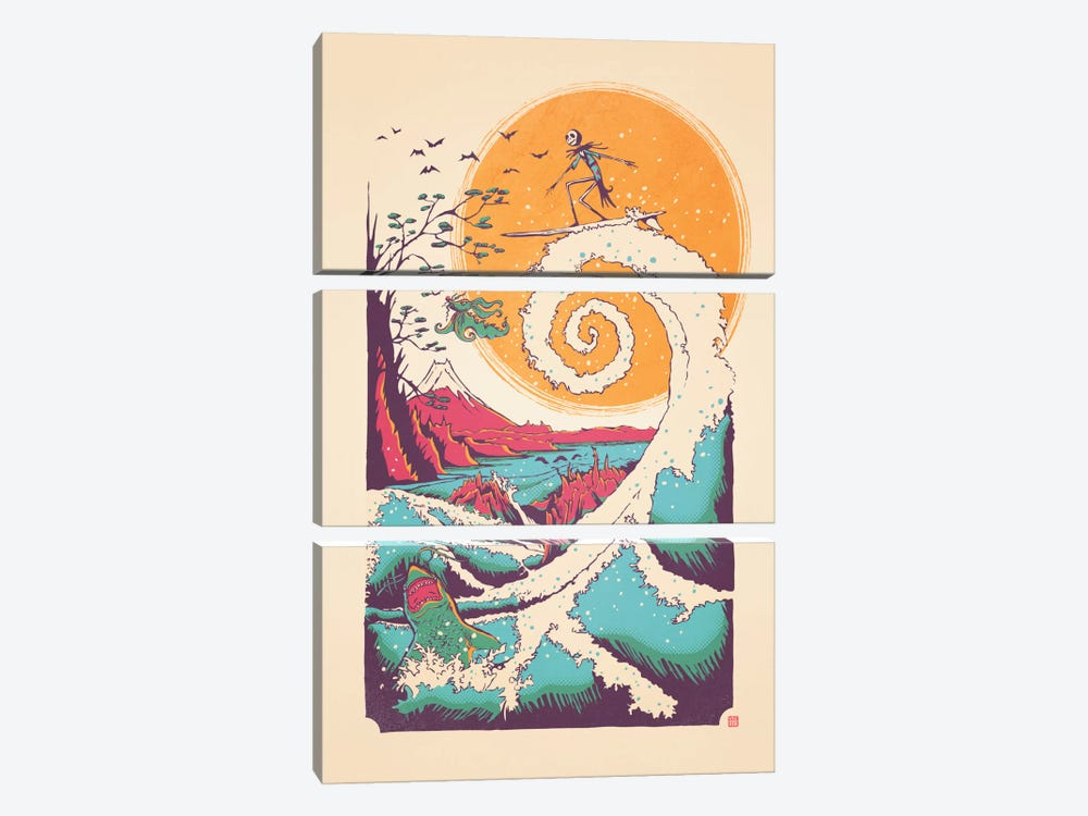 Surf Before Christmas by Victor Vercesi 3-piece Art Print