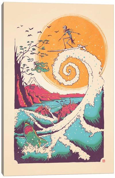 Surf Before Christmas Canvas Art Print