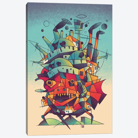 Moving Castle Canvas Print #VIC29} by Victor Vercesi Canvas Wall Art