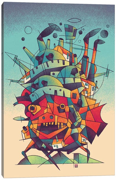 Moving Castle Canvas Art Print