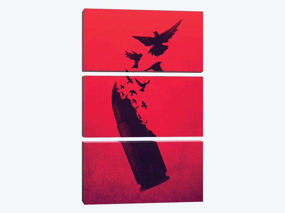 Bullet Birds by Victor Vercesi 3-piece Art Print