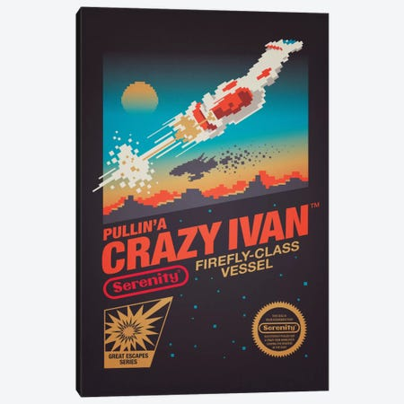 Crazy Ivan Canvas Print #VIC4} by Victor Vercesi Art Print