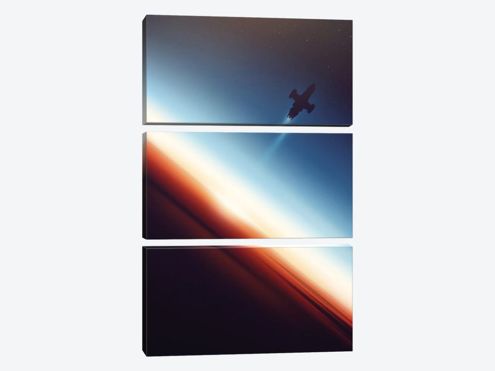 Into Space by Victor Vercesi 3-piece Art Print