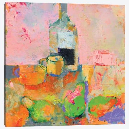 Three pears Canvas Print #VIK16} by Viktor Sheleg Canvas Wall Art