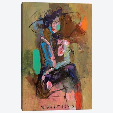 Lady Topless Canvas Print #VIK28} by Viktor Sheleg Canvas Art