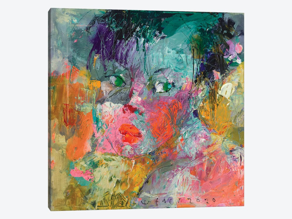 Young girl by Viktor Sheleg 1-piece Canvas Print