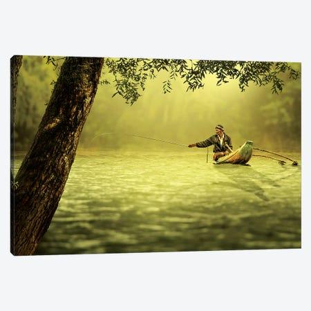 Fishing Canvas Print #VIM1} by Vinaya Mohan Canvas Wall Art