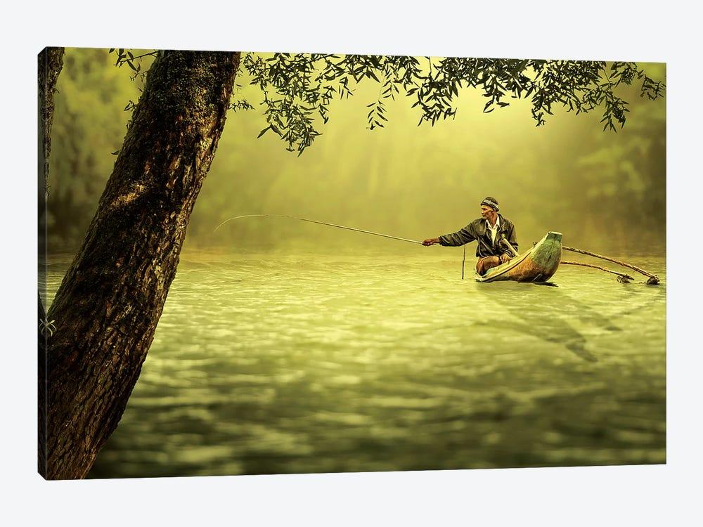 Fishing by Vinaya Mohan 1-piece Canvas Print