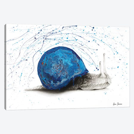 Night Garden Snail Canvas Print #VIN101} by Ashvin Harrison Canvas Art