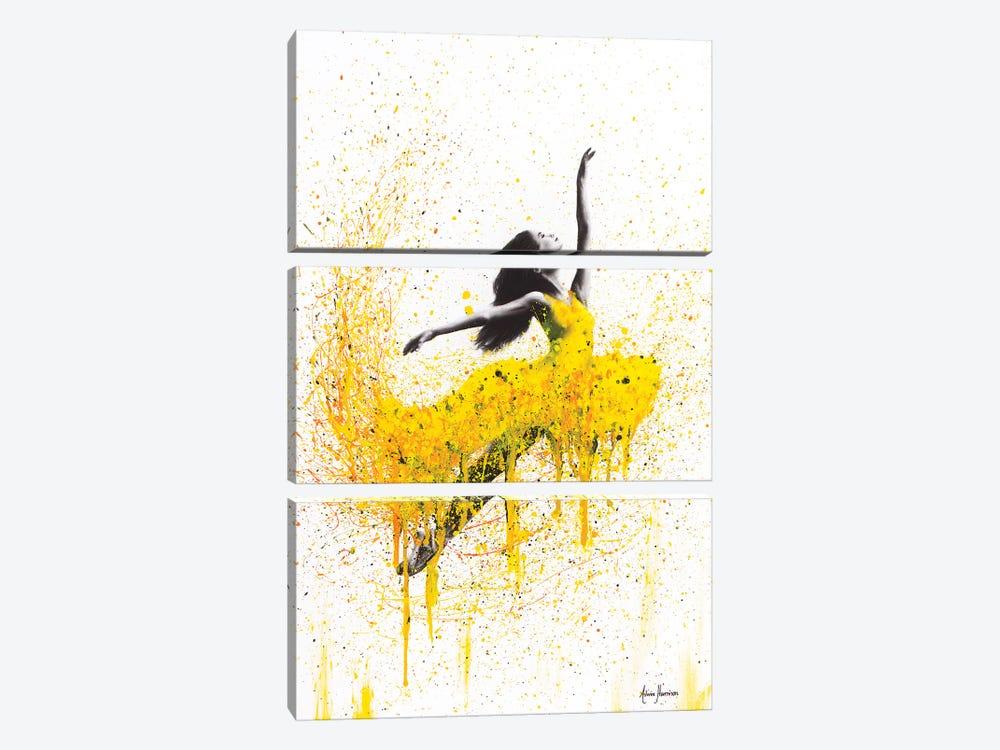 Sunflower Dancer by Ashvin Harrison 3-piece Canvas Artwork
