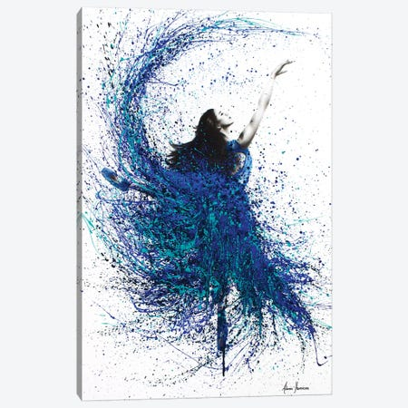 Teal Wave Dance Canvas Print #VIN108} by Ashvin Harrison Canvas Artwork
