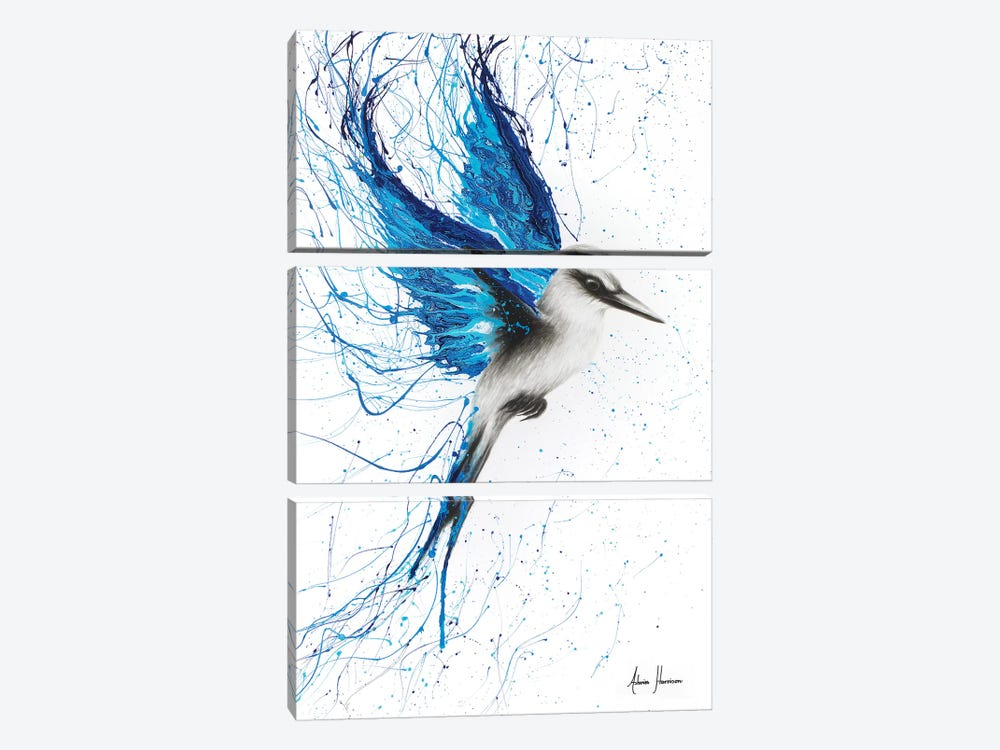 True Blue by Ashvin Harrison 3-piece Canvas Wall Art