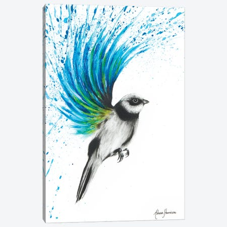 Turquoise Finch Canvas Print #VIN119} by Ashvin Harrison Art Print
