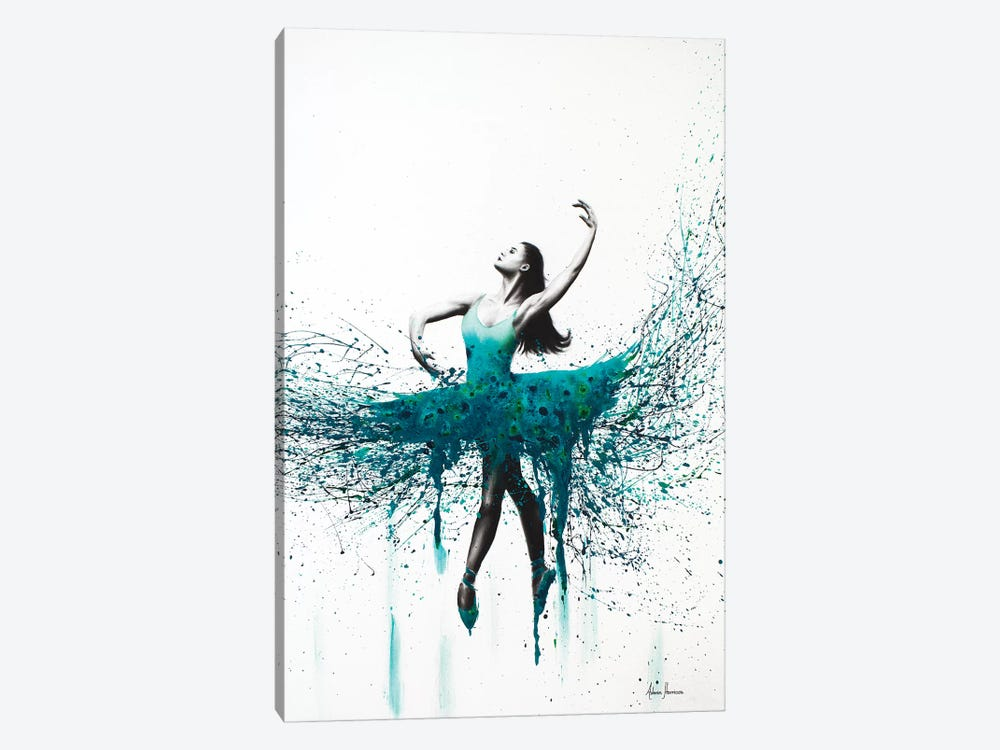 Turquoise Twist by Ashvin Harrison 1-piece Canvas Print