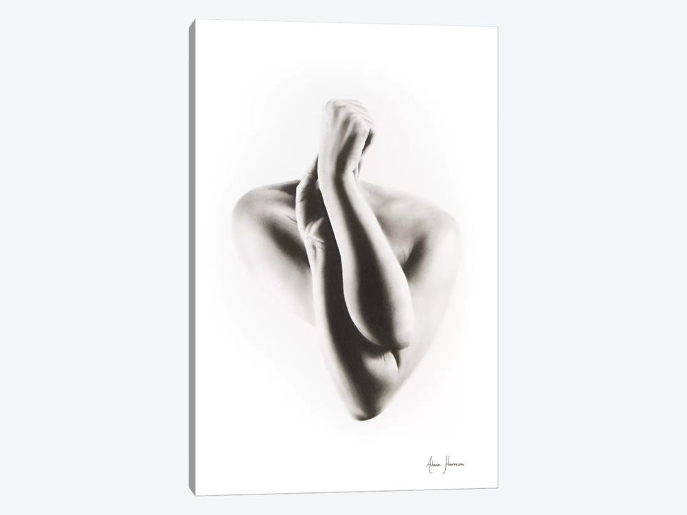 Nude Woman Charcoal Study 55 by Ashvin Harrison 1-piece Art Print
