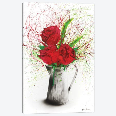 Scarlet Lovers Canvas Print #VIN136} by Ashvin Harrison Canvas Art