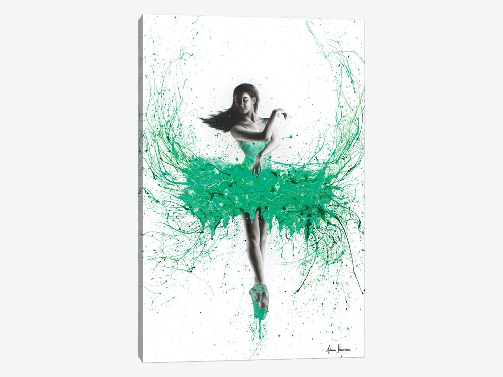 Southern Jade Ballerina I by Ashvin Harrison 1-piece Canvas Art Print