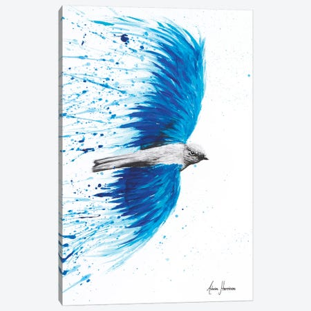 Blue Healing Bird Canvas Print #VIN13} by Ashvin Harrison Canvas Wall Art