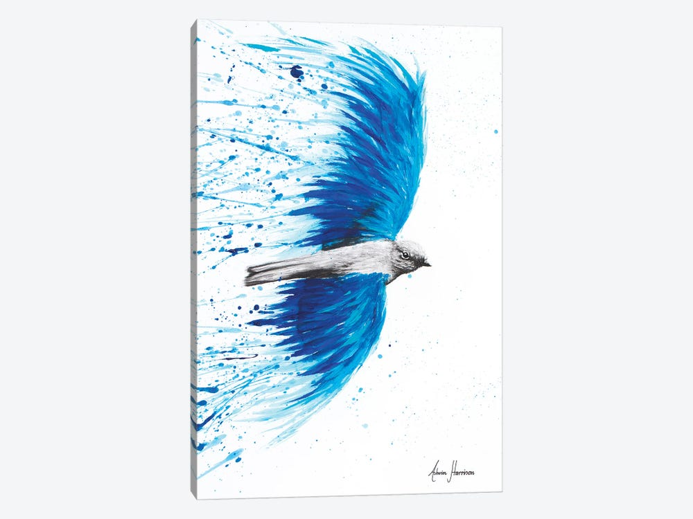 Blue Healing Bird 1-piece Canvas Print