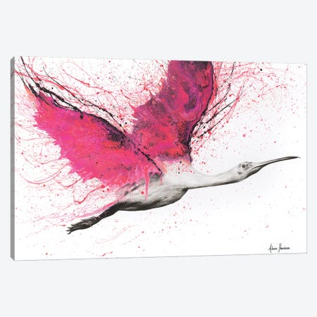 Bird Of The Pink Skies Canvas Print #VIN140} by Ashvin Harrison Canvas Art