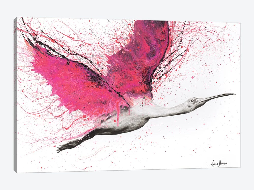 Bird Of The Pink Skies by Ashvin Harrison 1-piece Canvas Print