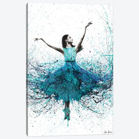 Coral Night Dancer 3-Piece Canvas #VIN142} by Ashvin Harrison Canvas Art