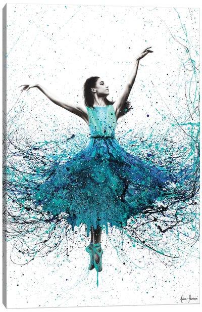 Coral Night Dancer Canvas Art Print