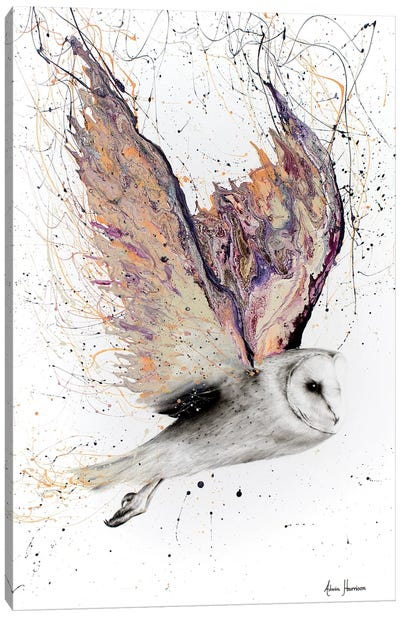 Heart Winged Owl Canvas Art Print