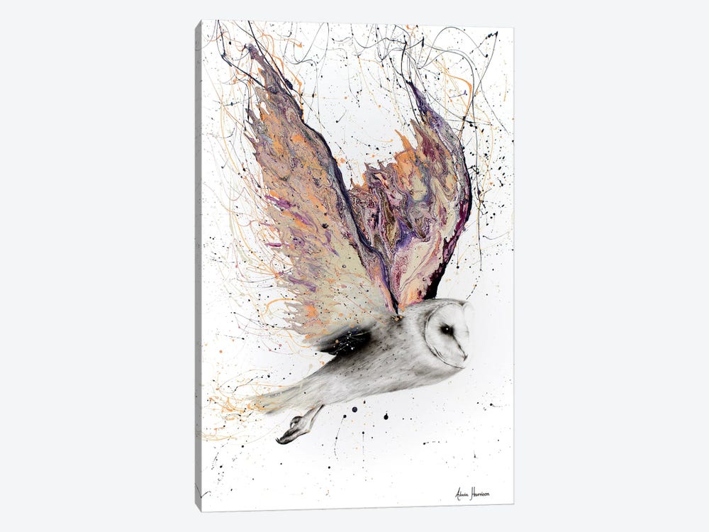 Heart Winged Owl 1-piece Canvas Art Print