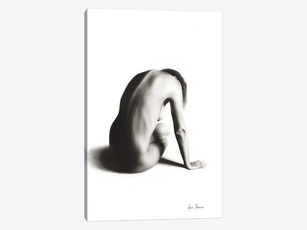 Nude Woman Charcoal Study 56 1-piece Canvas Artwork