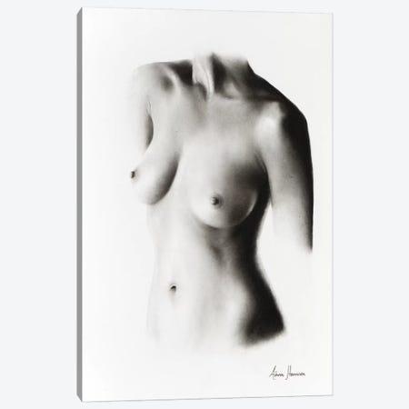 Nude Woman Charcoal Study 58 Canvas Print #VIN152} by Ashvin Harrison Canvas Print