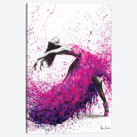 Hot Magenta Dance Canvas Print #VIN172} by Ashvin Harrison Art Print
