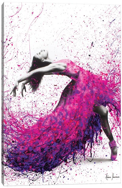 Hot Magenta Dance Canvas Art Print