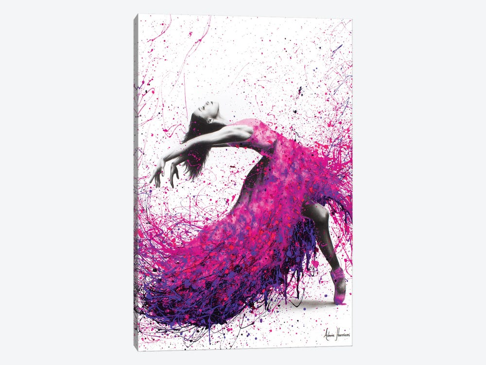 Hot Magenta Dance by Ashvin Harrison 1-piece Canvas Wall Art