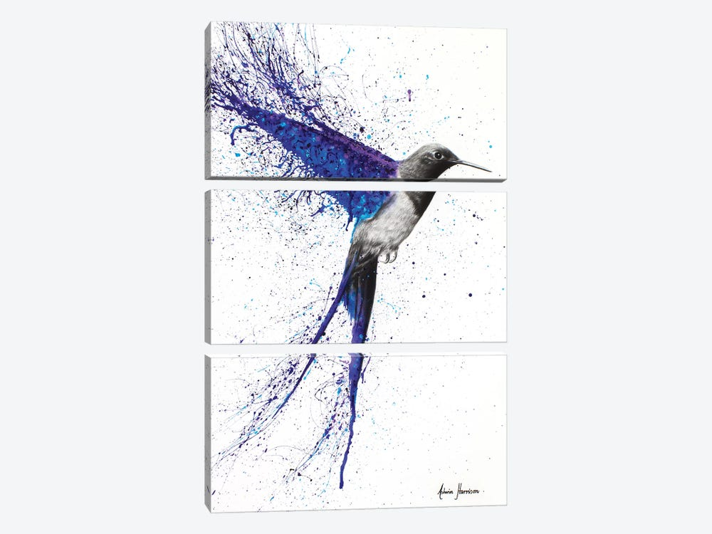 Coming Home In The Rain by Ashvin Harrison 3-piece Canvas Art Print