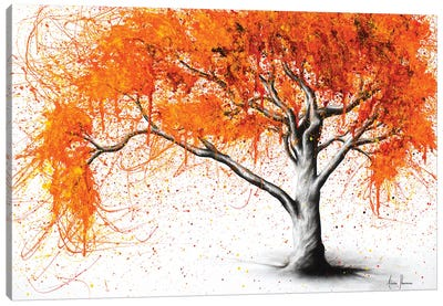 Autumn Flames Canvas Art Print