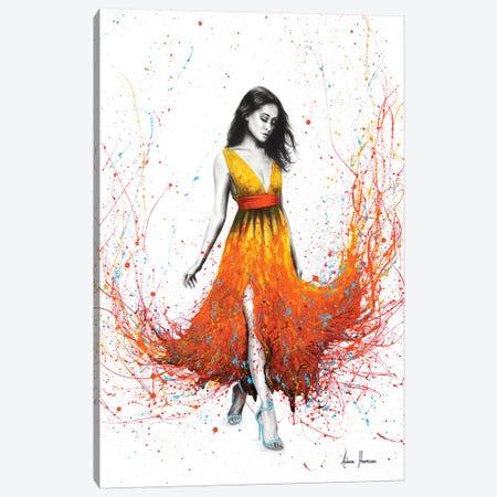 Electric Flame 3-Piece Canvas #VIN187} by Ashvin Harrison Art Print