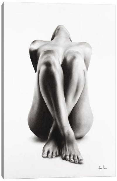 Nude Woman Charcoal Study 63 Canvas Art Print