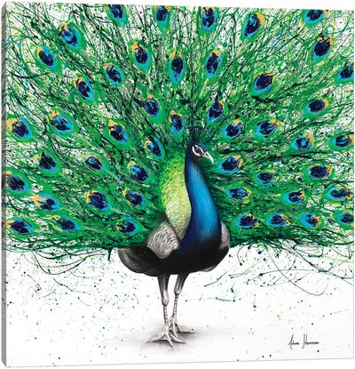 Pavo Indigo Canvas Art Print