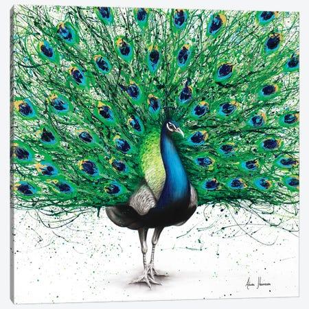 Pavo Indigo 3-Piece Canvas #VIN194} by Ashvin Harrison Canvas Wall Art