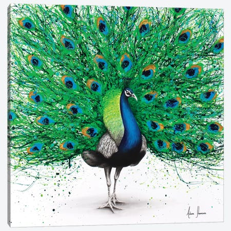 Pavo Pthalo Canvas Print #VIN195} by Ashvin Harrison Canvas Art