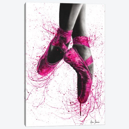 Pretty In Pink Ballet Canvas Print #VIN196} by Ashvin Harrison Canvas Art