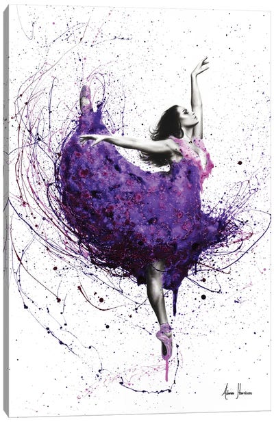 Purple Rain Ballet Canvas Art Print