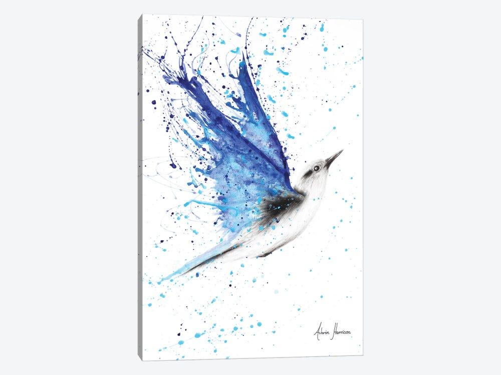 Blue Freedom Flight by Ashvin Harrison 1-piece Canvas Artwork