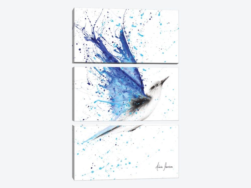 Blue Freedom Flight by Ashvin Harrison 3-piece Canvas Wall Art