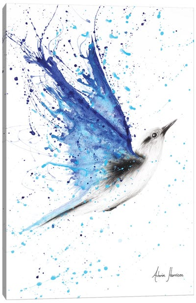 Blue Freedom Flight Canvas Art Print