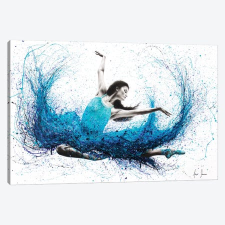 Luna Marina Ballet Canvas Print #VIN213} by Ashvin Harrison Canvas Art