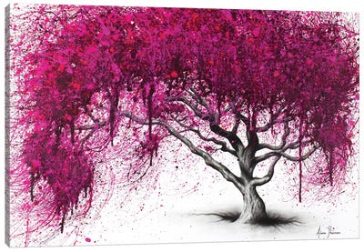 Pink Plum Park Canvas Art Print
